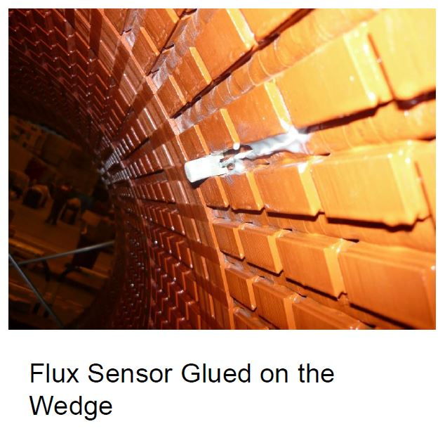 flux Sensor Glued On The generator stator Wedge