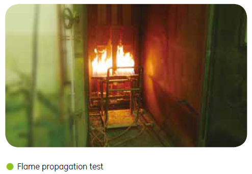 busduct waveProF fireproof burn test
